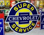 Chevrolet Super Service 2 sided Porcelain  49 x 42