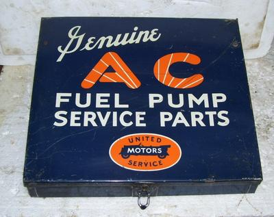 AC Fuel Pump Service  Parts box with some contents