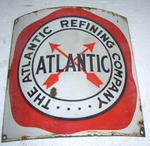 Atlantic original Pump Sign  13 x 12  Porcelain-curved